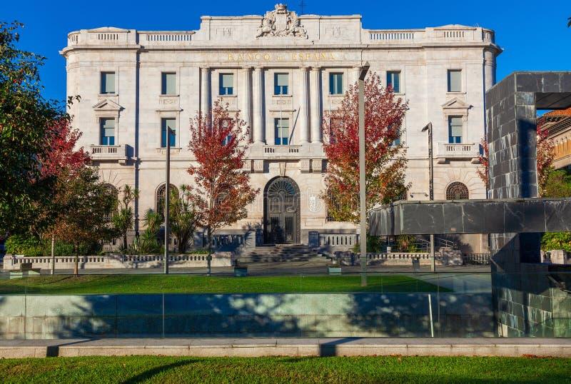 SANTANDER, SPANJE - OKTOBER 31, 2013 Bank van Spanje royalty-vrije stock foto's