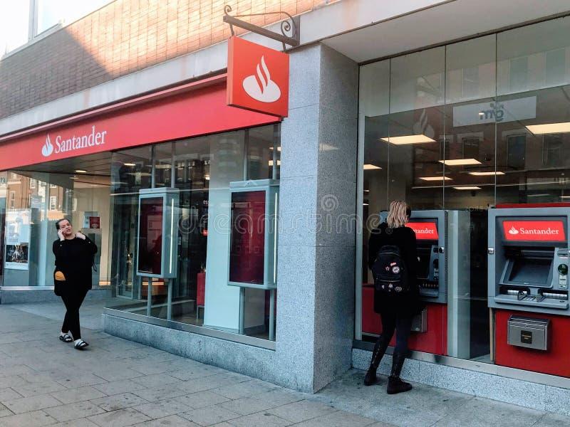 Santander Bank branch stock photos