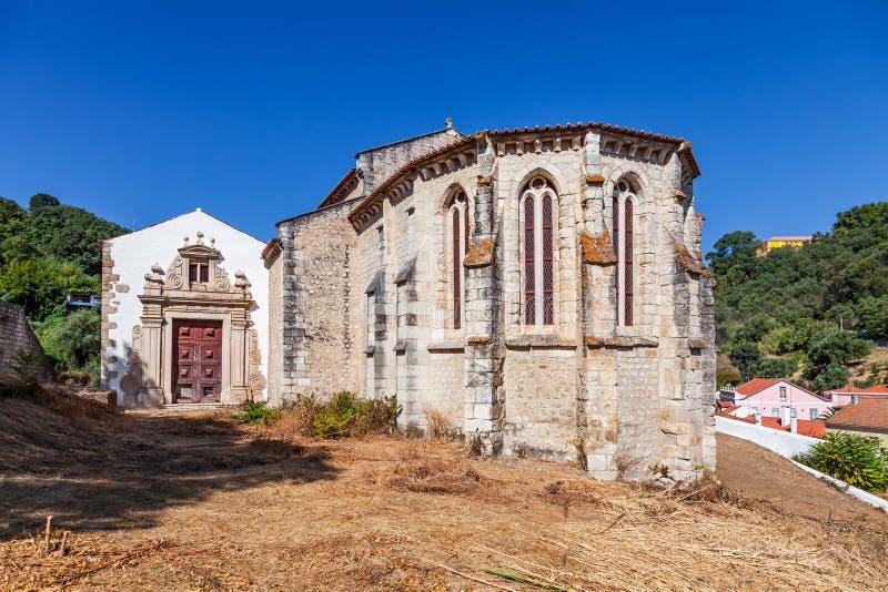 Santarem, Португалия Готическая апсида церков Igreja de Santa Cruz стоковая фотография