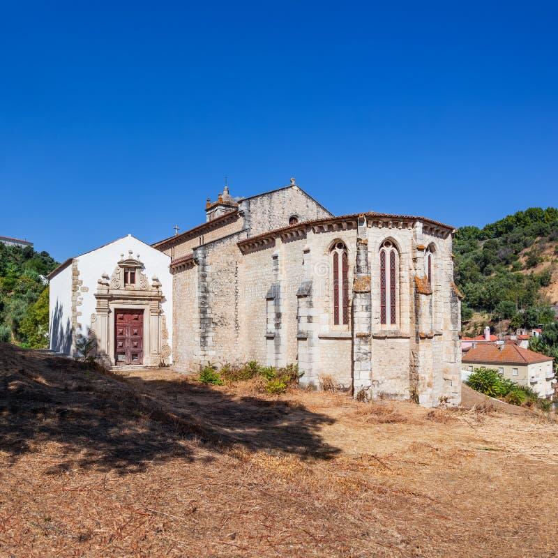 Santarem, Португалия Готическая апсида церков Igreja de Santa Cruz стоковые фотографии rf