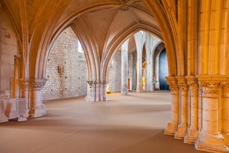 Santarem, Portugal - Bellow the Rood Screen or Choir Screen in the Church of Convento de Sao Francisco Convent stock photo