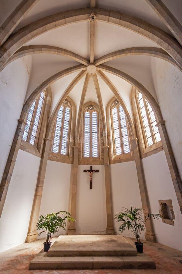 Santarem, Portugal - Igreja DE Santa Clara Church Apse royalty-vrije stock foto's