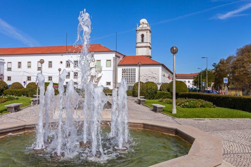 Santarem, Portugal - Largo do Infante Santo Square stock afbeeldingen