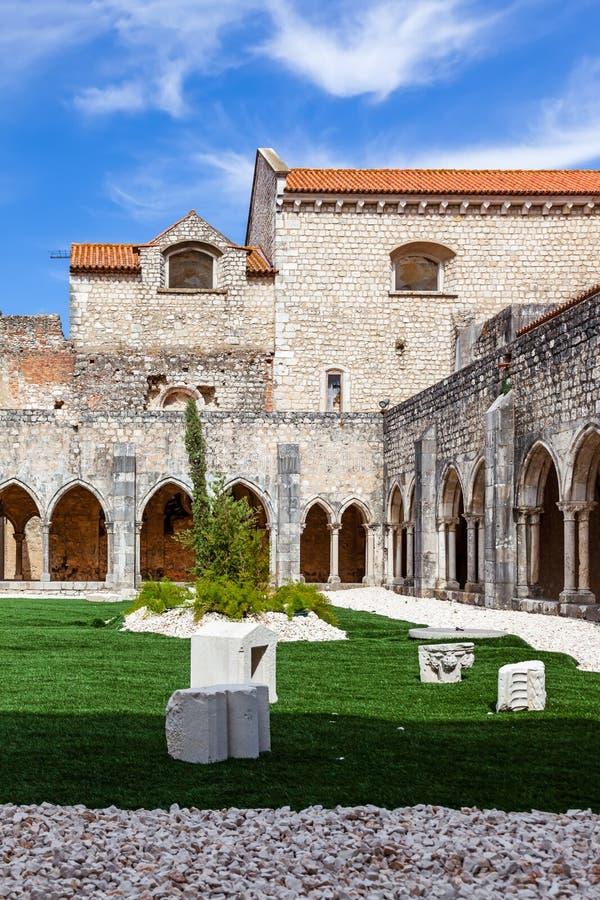 Santarem, Portugal - Cloister of Convento de Sao Francisco Convent stock images