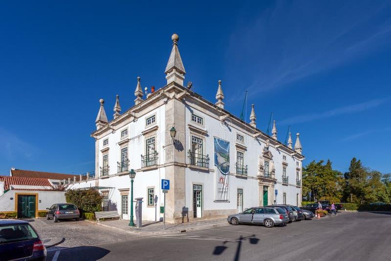 Santarem, Portugal - City Hall of Santarem Eugenio Silva Palace royalty free stock photo