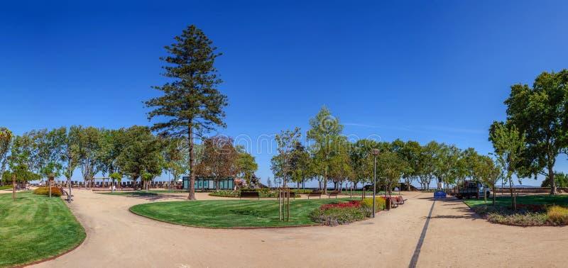 Santarem, Portugal - Jardim das Portas do Sol Garden stock photography