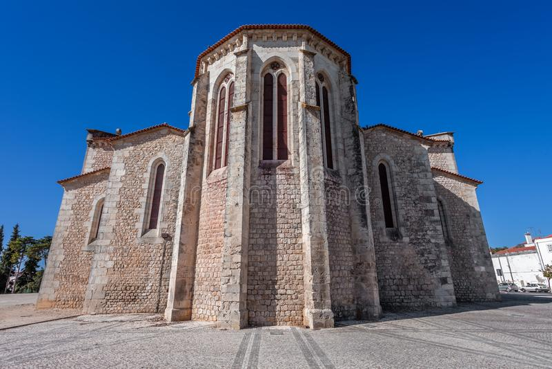 Santarem, Portugalia Apsydy powierzchowność Igreja de Santa Clara kościół obraz royalty free