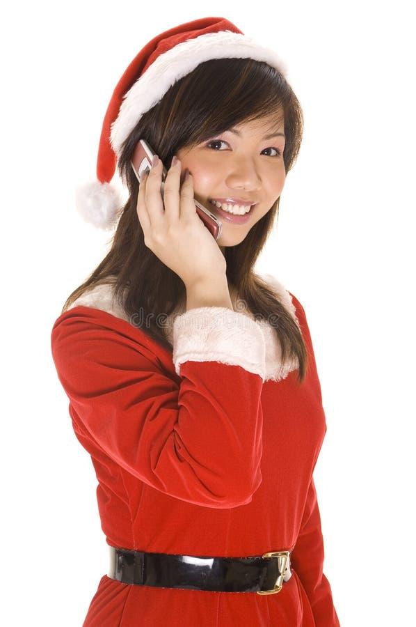 Download Santarina On The Phone stock image. Image of christmas - 248261