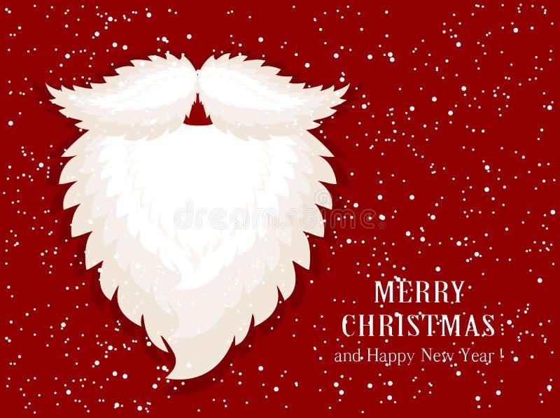 Santas broda na śnieżnym tle royalty ilustracja