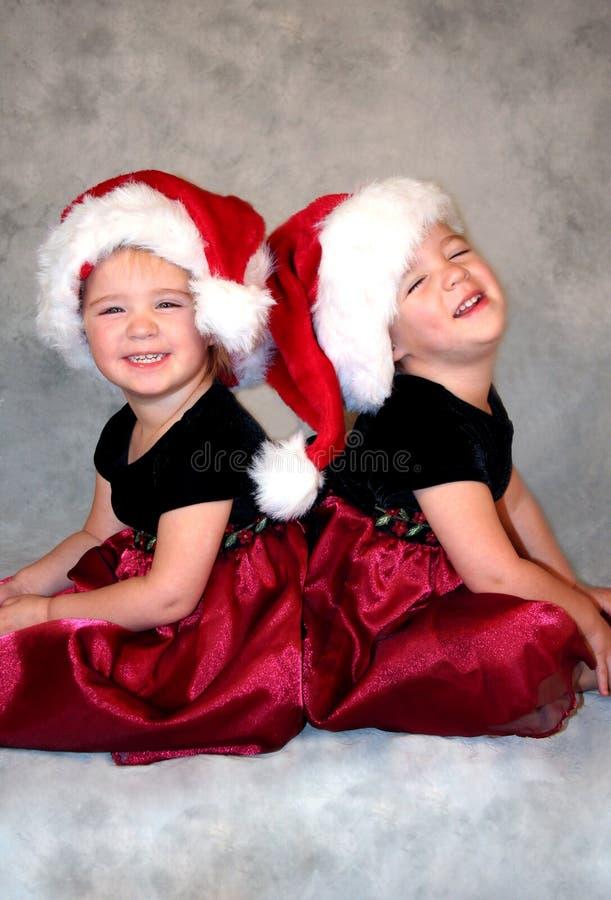 Santas de risa imagenes de archivo