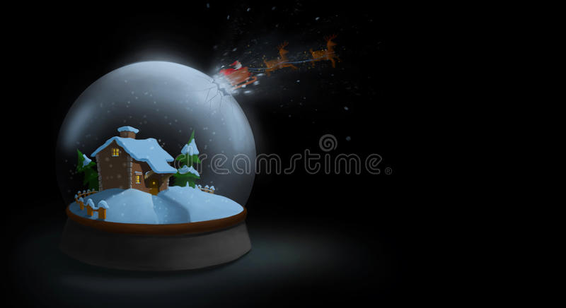 Santas escape stock illustrationer