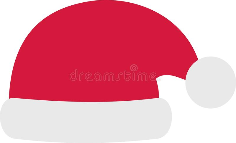 Santas hat christmas. Greeting holiday vector vector illustration