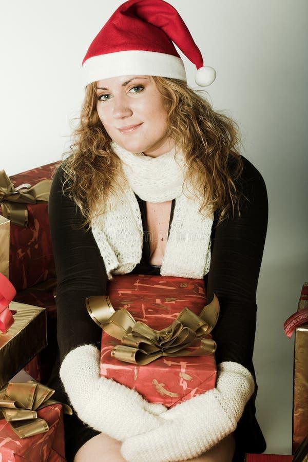 Santas kvinnaslut upp arkivfoton