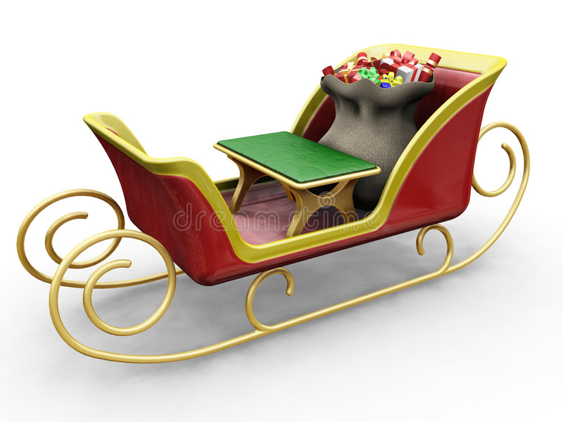 santas sleigh stock illustrationer