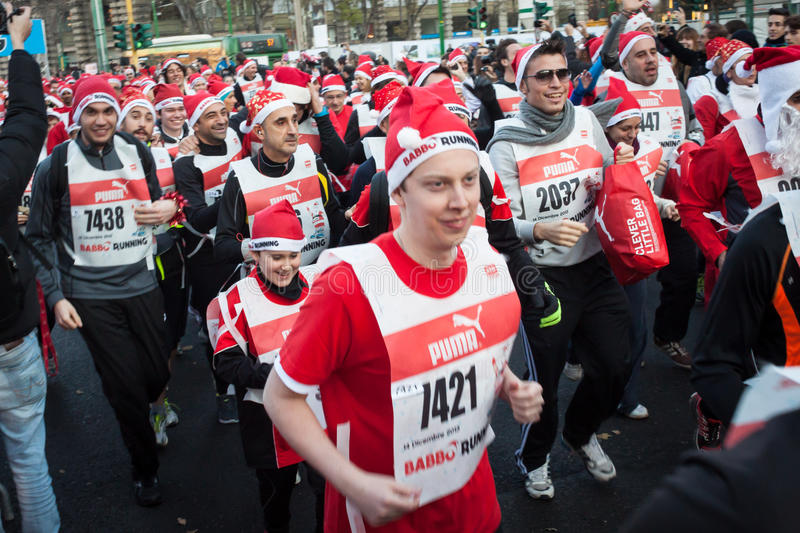 Download Almost 10.000 Santas Take Part In The Babbo Running In Milan, Italy Editorial Image - Image: 36015785