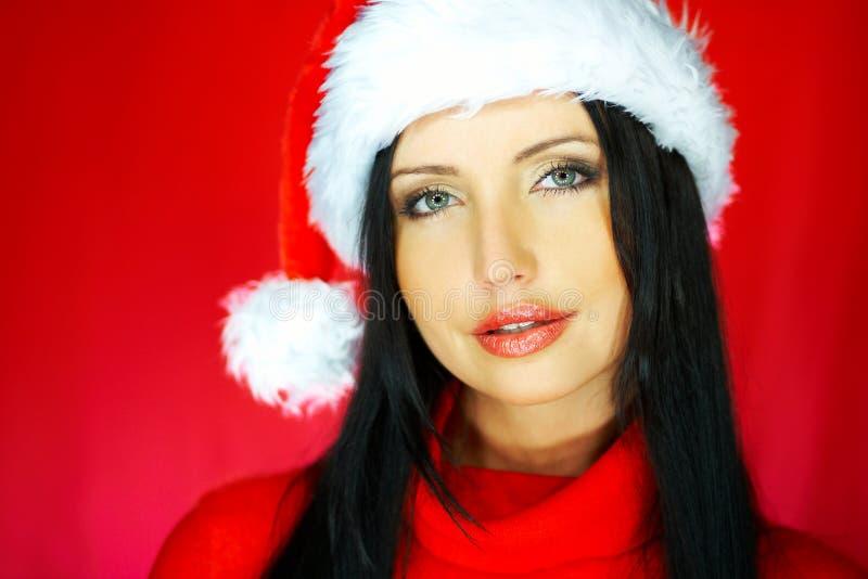 Download Santas Woman 2 stock photo. Image of claus, portrait, girl - 1580426