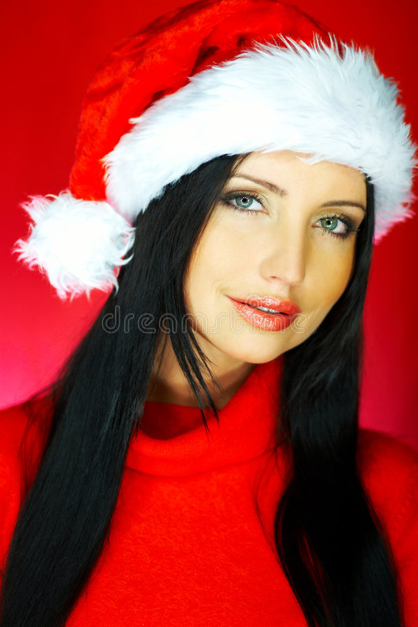 Download Santas Woman 2 stock image. Image of lady, hair, stylish - 1580427