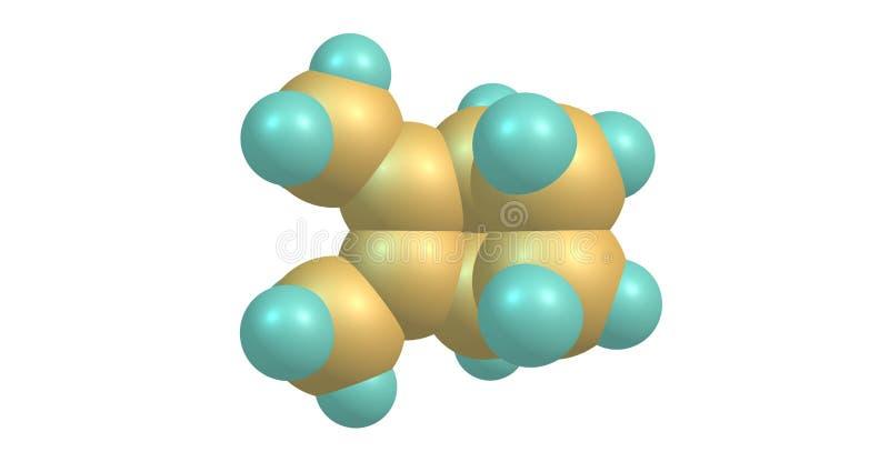 Santene molekylär struktur som isoleras på vit stock illustrationer