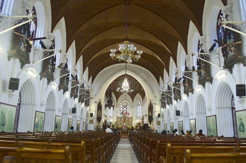 Santhome教会,金奈,印度,亚洲 免版税库存图片
