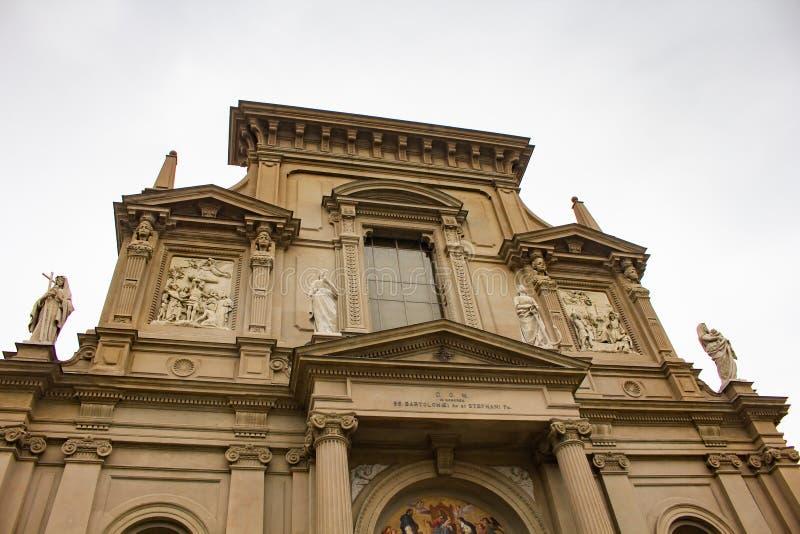 Santi Bartolomeo e Stefano church in Bergamo, Italy stock image