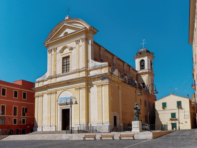 Santi Giovanni Battista ed Evangelista church Nettuno Italy. Santi Giovanni Battista ed Evangelista church Nettuno Lazio Italy stock photo