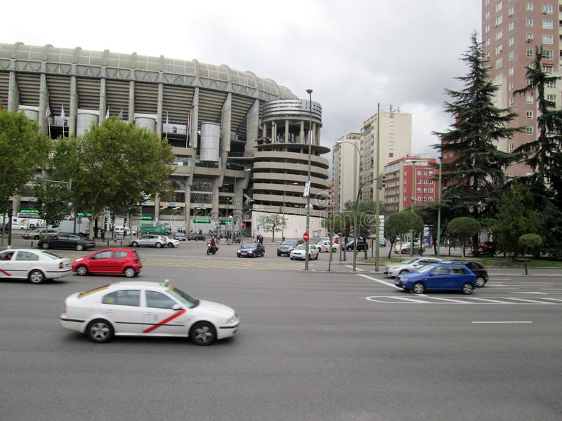 Santiago Bernabéu Stadium Paseo de la Castellana Spain Europe. NnThe Santiago Bernabéu Stadium is a sports venue owned by the Real Madrid Football Club royalty free stock photos