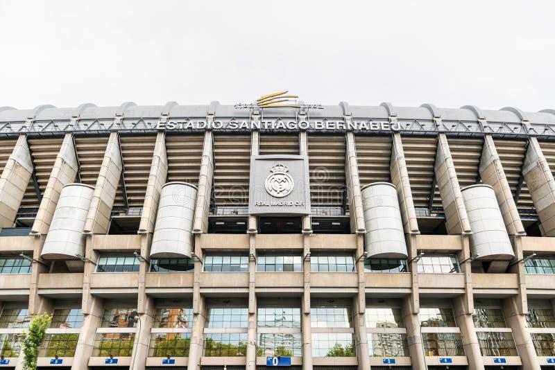 Santiago Bernabeu-Stadion in Madrid stockfotografie