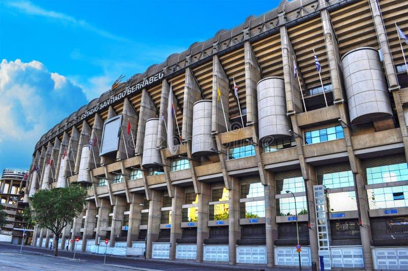 Santiago Bernabeu stadium in Madrid stock photos