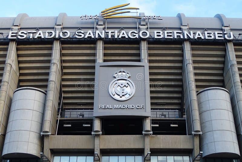 Santiago Bernabeu Stadium in Madrid, Spain royalty free stock photo