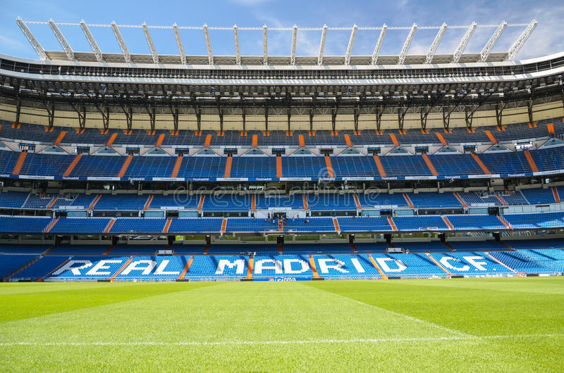 Santiago Bernabeu Stadium of Real Madrid, Spain. royalty free stock images