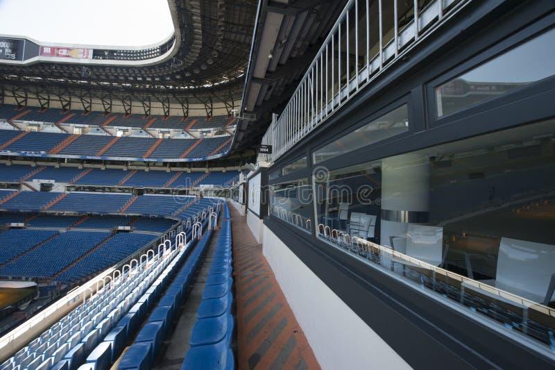 At Santiago Bernabeu Stadium stock image