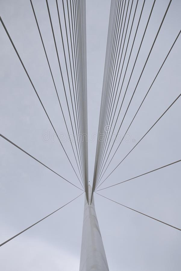 Santiago Calatrava bridge. Cosenza, Italy - June 13, 2018 : Santiago Calatrava bridge in Cosenza royalty free stock image