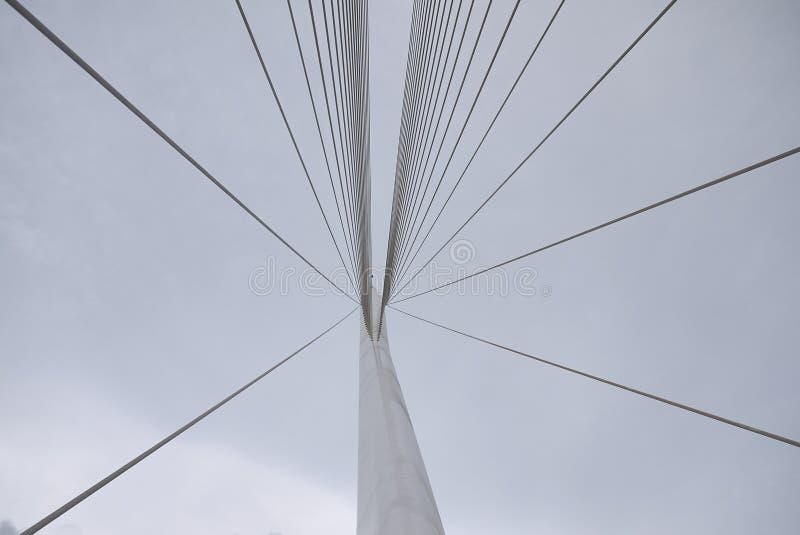 Santiago Calatrava bridge. Cosenza, Italy - June 13, 2018 : Santiago Calatrava bridge in Cosenza stock photos