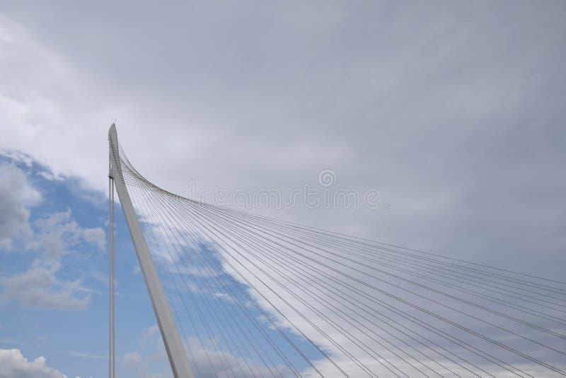 Santiago Calatrava bridge. Cosenza, Italy - June 13, 2018 : Santiago Calatrava bridge in Cosenza royalty free stock photos
