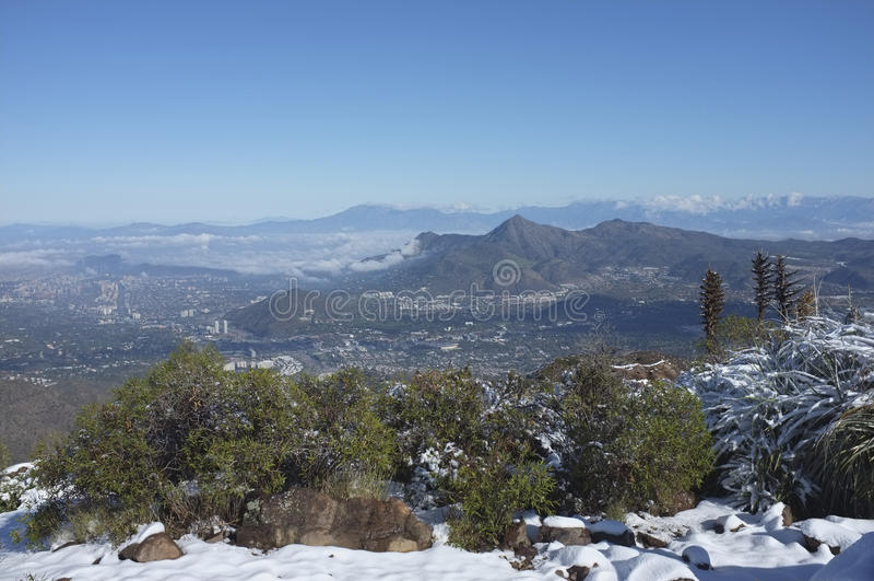 Santiago, capitale del Cile fotografia stock