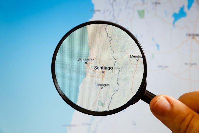 Santiago, Chile correspondencia pol?tica fotos de archivo libres de regalías