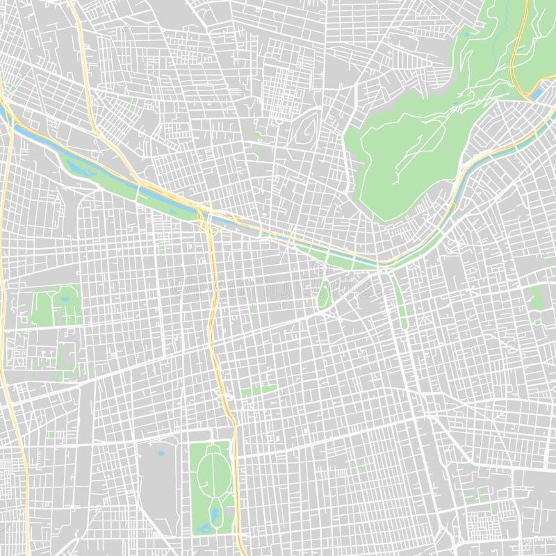 Santiago Chile klasyczna w centrum mapa royalty ilustracja