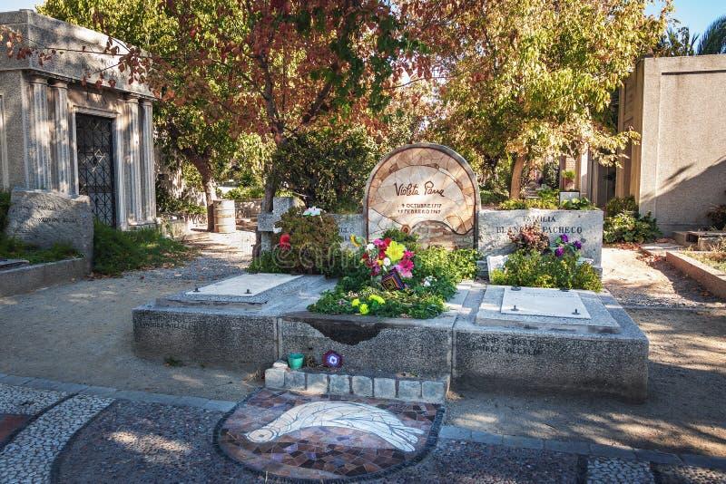 Violeta Parra Tomb at Santiago Cemetery - Santiago, Chile. Santiago, Chile - Mar 11, 2018: Violeta Parra Tomb at Santiago Cemetery - Santiago, Chile royalty free stock image