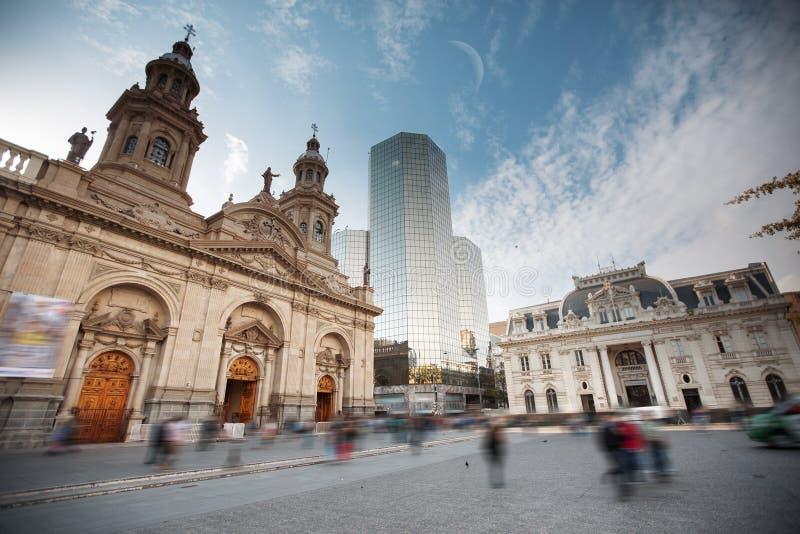 Santiago, Chile. Plaza de las Armas square in Santiago, Chile stock photos