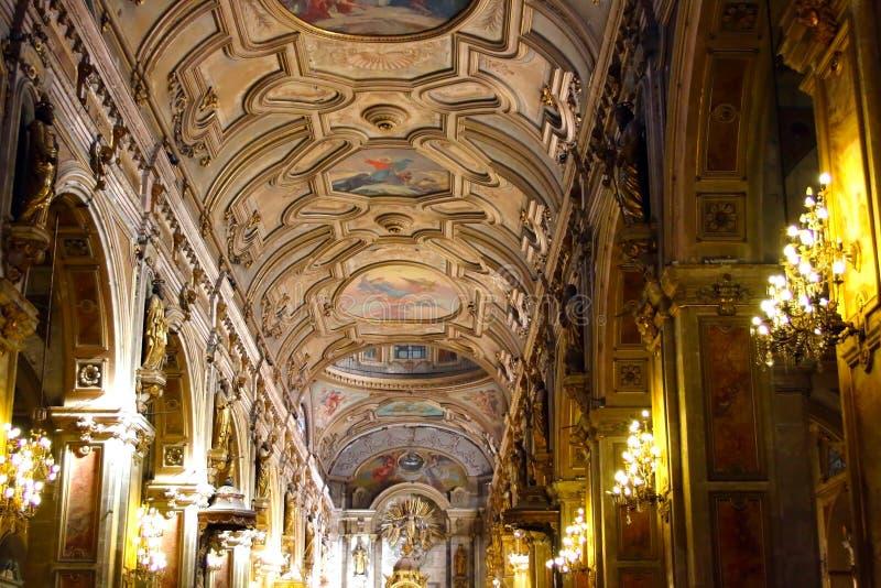 SANTIAGO, CHILI - 15 JUIN : Cathédrale métropolitaine de Santiago, C photographie stock