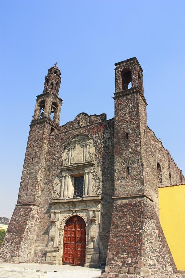 Santiago church royalty free stock photo