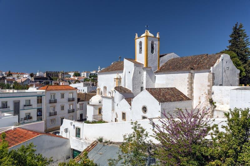 Santiago Church - Igreja DE Santiago, Tavira, Portugal stock fotografie