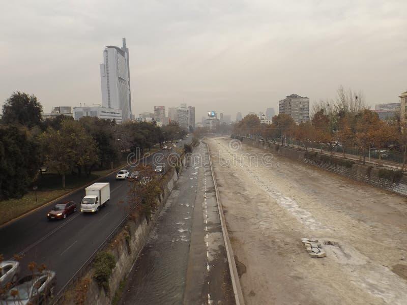 Santiago, Cile nell'inverno immagini stock