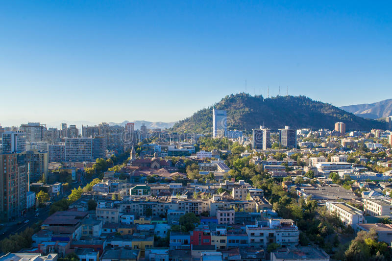 Download Santiago city in Chile stock image. Image of south, modern - 90579605