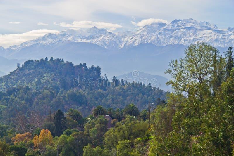Santiago-cityview stockbilder
