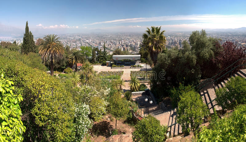 Santiago de Chile. View of Santiago de Chile from the hills in the city center stock images