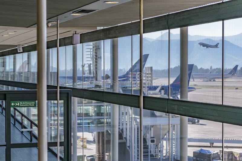 Santiago de Chile Airport royalty free stock photography