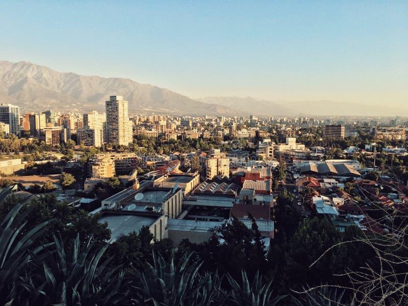 Santiago de Chile Cityscape royaltyfria foton