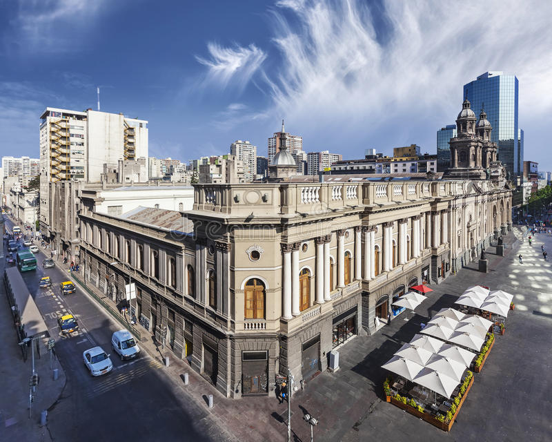 Santiago de Chile do centro fotos de stock royalty free