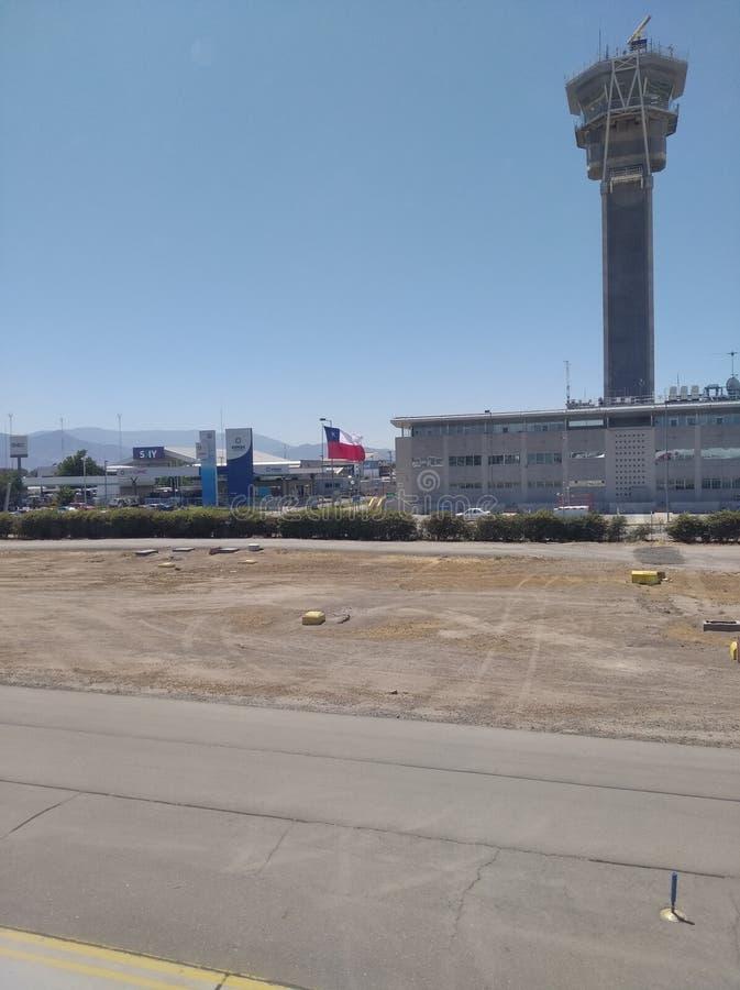 Control tower Santiago de Chile International Airport stock images